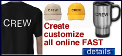 Customize production crew gear fast