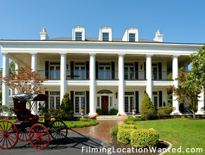 Film location rental plantation in Saint Louis Missouri